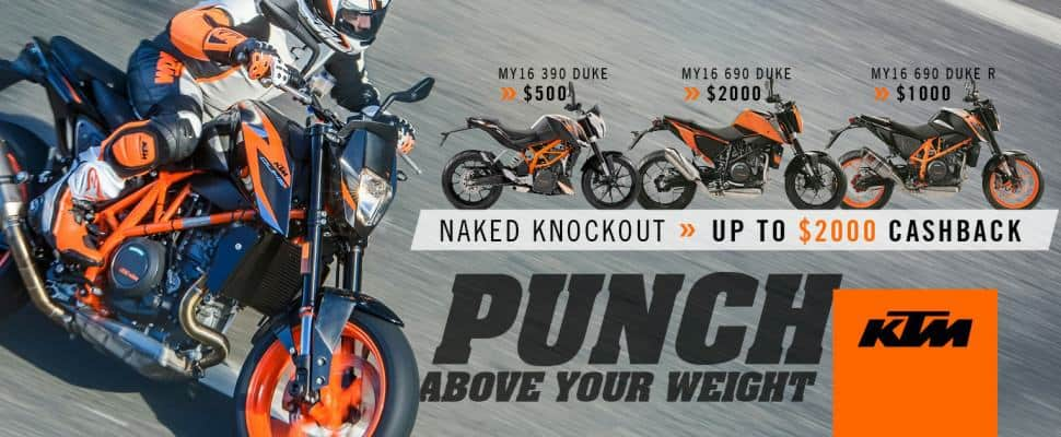 KTM Duke 2017 Punch Above Your Weight Campaign
