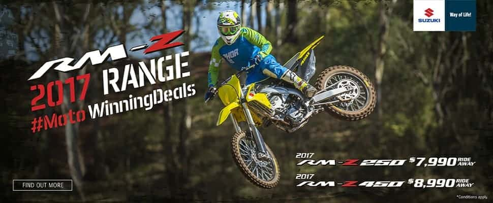 RMZ 2017 Range Moto Winning Deals