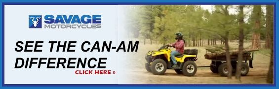 the Savage Motorcycles Can-Am range