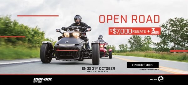 2018 Can-Am Spyder F3 and RT Clearance