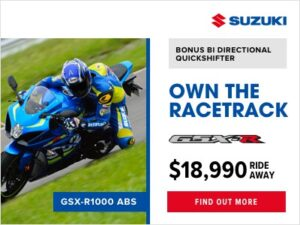 Suzuki GSX-R 1000 $18990 Ride away